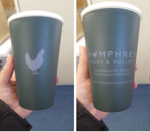 Humphrey Feeds and Pullets Opt For Branded Reusable Mugs